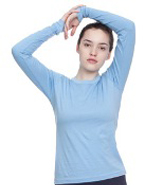 AMERICAN APPAREL FINE JERSEY LONG SLEEVE T