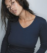 AMERICAN APPAREL LONG SLEEVE V-NECK