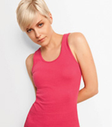 BELLA LADIES TANK TOP 1X1 RIB KNIT