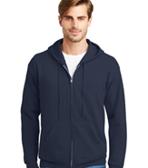 HANES 50/50 ZIP HOODED SWEATSHIRTS 7.8 OZ.