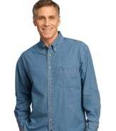 PORT & COMPANY VALUE DENIM SHIRT