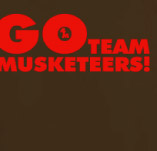 GO TEAM MUSKETEERS t-shirt design idea