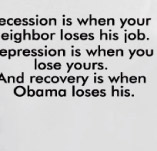RECESSION OBAMA t-shirt design idea
