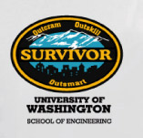 SURVIVOR CITY SCHOOL OF ENGINEERING t-shirt design idea