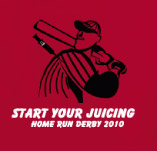 START YOUR JUICING: HOME RUN DERBY t-shirt design idea