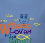 BIBLE CAMP OWL t-shirt design idea