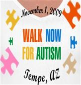 WALK NOW FOR AUTISM t-shirt design idea