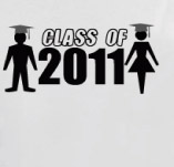 GIRL AND BOY SENIOR CLASS t-shirt design idea