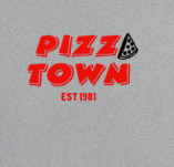 PIZZA TOWN EST 1981 t-shirt design idea