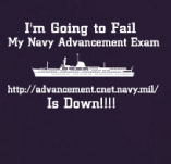 NAVY ADVANCEMENT EXAM t-shirt design idea