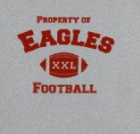 PROPERTY OF  EAGLES FOOTBALL t-shirt design idea