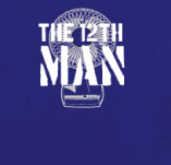 THE 12TH MAN FAN t-shirt design idea