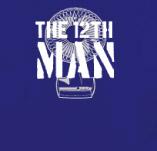 THE 12TH MAN FAN t-shirt design idea