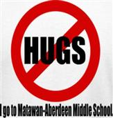 NO HUGS t-shirt design idea