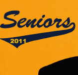 SENIORS 2011 BASEBALL t-shirt design idea