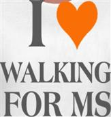 I HEART WALKING FOR t-shirt design idea