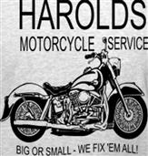 HAROLDS MOTORCYCLE t-shirt design idea