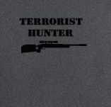 ARMY TERRORIST HUNTER t-shirt design idea