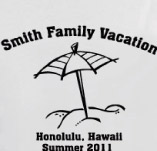 HAWAII FAMILY VACATION t-shirt design idea