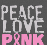 PEACE LOVE PINK RIBBON t-shirt design idea