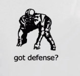 FOOTBALL GOT DEFENSE? t-shirt design idea