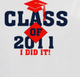 GRADUATING SENIOR: I DID IT! t-shirt design idea