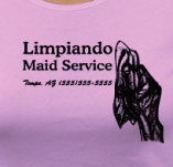 LIMPIANDO MAID SERVICES t-shirt design idea