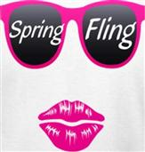 SPRING FLING t-shirt design idea