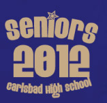 CARLSBAD SENIORS BLUE t-shirt design idea