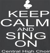 KEEP CALM AND SING ON t-shirt design idea