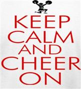 KEEP CALM AND CHEER ON t-shirt design idea
