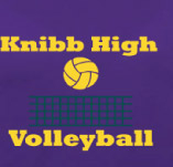 KNIBB HIGH VOLLYBALL t-shirt design idea