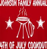 ANNUAL 4TH OF JULY COOKOUT t-shirt design idea