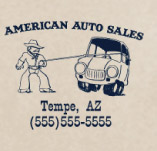 AMEICAN AUTO SALES AUTO RODEO t-shirt design idea