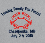 FANNING FAMILY FUN FOURTH t-shirt design idea