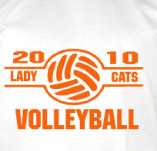 LADY CATS VOLLYBALL TEAM t-shirt design idea
