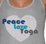 PEACE LOVE YOGA t-shirt design idea