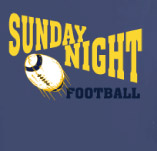 SUNDAY NIGHT FOOTBALL t-shirt design idea