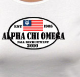 ALPHA CHI OMEGA EST. 1986 t-shirt design idea