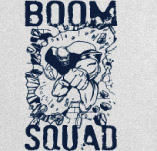FOOTBALL BOOM SQUAD t-shirt design idea