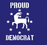 PROUD DEMOCRAT t-shirt design idea