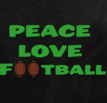 PEACE LOVE FOOTBALL t-shirt design idea