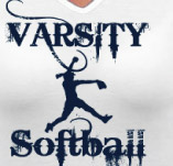 VARSITY SOFTBALL t-shirt design idea