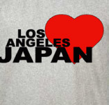 LA LOVES JAPAN t-shirt design idea