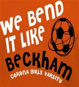 BEND IT LIKE BECKHAM t-shirt design idea