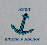 AT&T IPHONE'S ANCHOR t-shirt design idea
