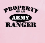PROPERTY OF AN ARMY RANGER t-shirt design idea