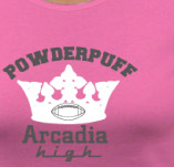 ARCADIA HIGH SCHOOL POWDERPUFF FOOTBALL t-shirt design idea