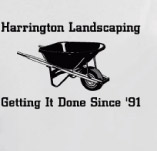 HARRINGTON LANDSCAPING: GETTING IT DONE SINCE '91 t-shirt design idea