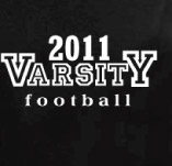 VARSITY FOOTBALL 2011 BLACK t-shirt design idea